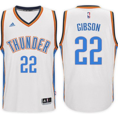Online sales Oklahoma City Thunder #22 Taj Gibson 2016 17 Home White Basketball Swingman WWK3085