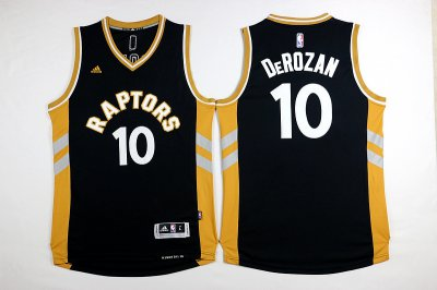 Originals NBA #10 Derozan Raptors 2015 2016 Season black/gold USA3876