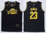 Outlet Apparel LeBron James 23 Cleveland Cavaliers Replica Black EVB1165