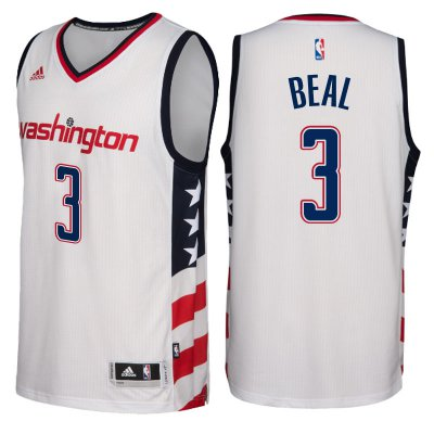 Outlet Washington Wizards #3 Bradley Beal 2016 17 Gear Stars & Stripes White Alternate Swingman AKX4179