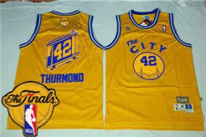 Shop Cheap Warriors  42 Nate Thurmond Apparel Gold Throwback The City The Fi db426b8c2