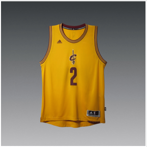 Top Quality Apparel Cleveland Cavaliers Kyrie Irving Gold 2014 15 Christmas Day Swingman Alternate OUK1134