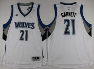 discount price Minnesota Timberwolves #21 Kevin Garnett Revolution 30 Swingman Gear White FFR2863