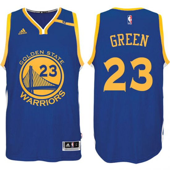 Transaction Golden State Warriors  Basketball 23 Draymond Green 2016 17  Road Blue 42 Patch LCZ1595 a7a3f8113