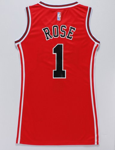 2018 Cheap Women Chicago Bulls 1 Apparel rose red dress ZGQ4262
