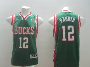 65% Discount Milwaukee Bucks 12 parker green Jersey DQL2838