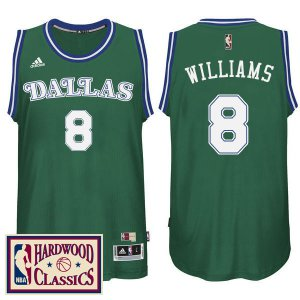 65% Off Dallas Mavericks Apparel #8 Deron Williams 2016 17 Season Green Hardwood Classics Throwback Swingman CUD1268