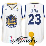 Activities in sales 2017 Finals Champions Patch Golden State Warriors #23 Draymond Green Clothing White Swingman QRP1538