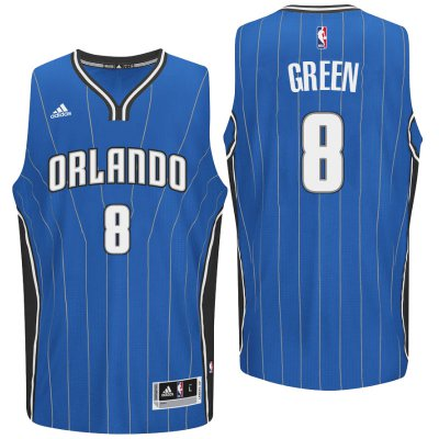 Authentic Orlando Magic #8 Jersey Jeff Green 2016 Road Blue Swingman BLF3152