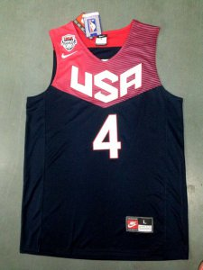 Authentic Stephen Curry 2014 FIBA Basketball Gear World Cup team blue color CEI4068