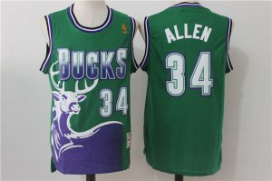 Beautiful Men's Bucks #34 NBA Ray Allen Green Hardwood Classics NWW2810