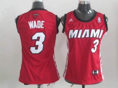 Best Gift Miami Merchandise Heat #3 Dwyane Wade Red Women's Replica Alternate VRY4340