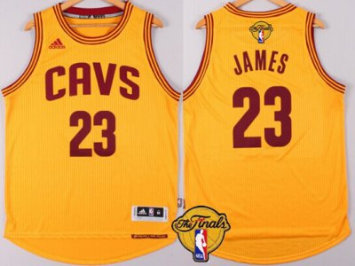 Discount Cleveland Cavaliers #23 LeBron Gear James 2016 The Finals Patch Yellow RWA282