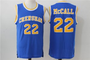 Fine fabric Merchandise The Movie Love & Basketball #22 Quincy McCall Blue Soul Swingman Basketball ABL1445