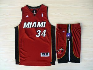 Good quality Revolution Apparel 30 Shorts Miami Heat #34 Ray Allen Swingman Red Rev Basketball Suits FNH4520