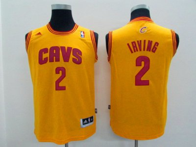 High cost performance Youth Cleveland Apparel Cavaliers Kyrie Irving Gold Alternate Replica BMF2072