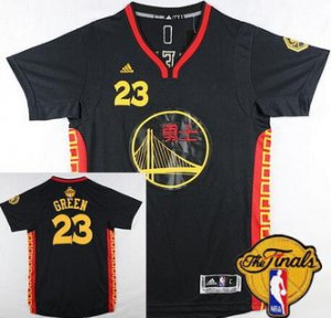Hot Cheap Golden Clothing State Warriors #23 Draymond Green Chinese Black 2016 The Finals Patch TVC14
