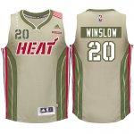 Latest style Miami Heat #20 Justise Jersey Winslow Home Strong Khaki Swingman RBB2622