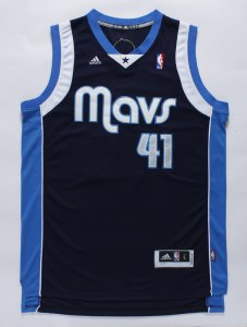 Magnificent Dirk Nowitzki Dallas Jersey Mavericks REV 30 Swingman Navy Blue Rd Men's VXB1283