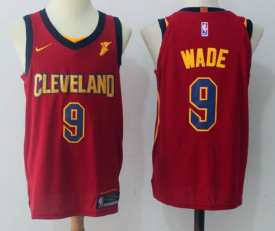 New Men's Cleveland Cavaliers #9 Dwyane Wade Burgundy Red 2017 Nike Swingman Goodyear Stitched NBA JPM1017