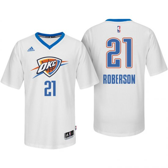 lowest price b460a 41c22 New Oklahoma City Thunder #21 Andre Roberson White Jersey ...