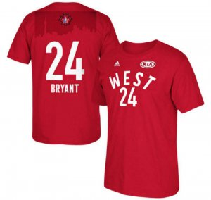 Official Kobe Bryant Western Conference 2016 All Star Game Name & Number T NBA Shirt YLY307
