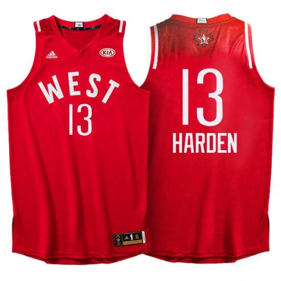 On Sale 2016 All Star Western Conference Rockets Basketball  13 James  Harden Red VGC323 5c4795529