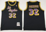 Online 2018 Los Angeles Lakers #32 Magic Johnson Black Mitchell And Jerseys Ness NFE2373
