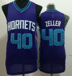 Online Cheap Revolution 30 NBA Hornets #40 Cody Zeller Purple Stitched HVZ652