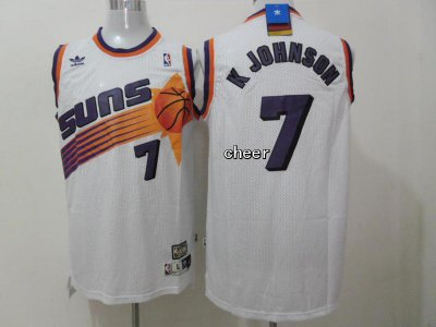 Online Fabric Phoenix Suns #7 K Johnson white Gear WUP3342