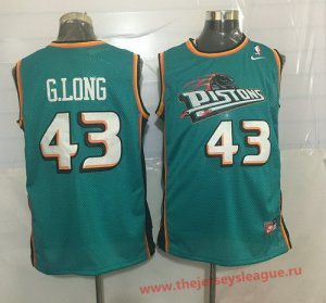Online sales Detroit Pistons #43 Grant Long Teal Green Hardwood Classics Soul Swingman Jersey Throwback TXB1391