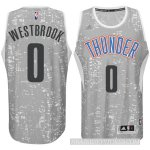 Online sales Oklahoma Merchandise City Thunder #0 Russell Westbrook City Lights Gray Swingman PED3104