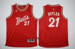 Order 2016 Kids Chicago Bulls Jimmy Gear Butler #21 Red Christmas Day Swingman Stitched TIQ2092