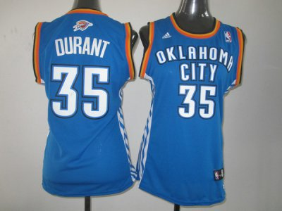 Outlet Women Oklahoma City Thunder 35 Kevin Durant Swingman Clothing Blue ERU4368