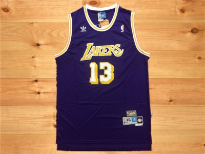 Top Quality Los Angeles Lakers #13 Chamberlain purple Apparel WTF2380