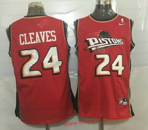cheaper Detroit Pistons #24 Mateen Cleaves Red Hardwood Classics Soul Swingman Throwback Basketball UMD1385