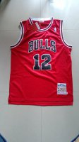 for wholesale Chicago Clothing Bulls Michael Jordan #12 Red ONQ861