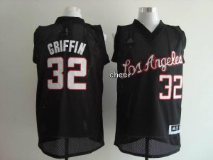 sport polyester fabric Basketball Los Angeles Clippers #32 Griffin black WLJ2288