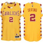 7932a523 sport polyester fabric Merchandise Cleveland Cavaliers #2 Kyrie Irving  Hardwood Classic Throwback Gold PFF1034