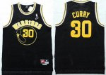 unequaled Warriors #30 Stephen Curry Black Throwback Jerseys Stitched FDX1702