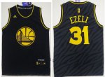 unequaled Warriors #31 Festus Ezeli Black Precious Metals Apparel Stitched RTE1682
