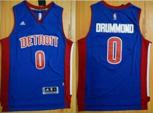 65% Discount Pistons #0 Andre Drummond Blue Stitched Jerseys ZLT1409