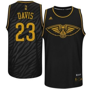 Authentic Davis Orleans NBA Pelicans Black Precious Metals Swingman BSI2919