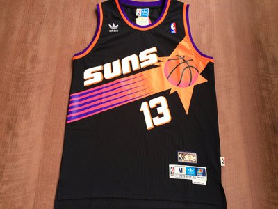 Authentic Phoenix Suns #13 Jerseys Steve Nash Black Swingman Throwback WWU3311