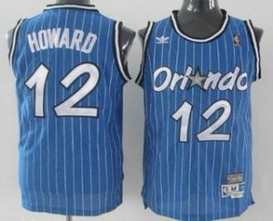 Best Cheap Orlando Gear Magic #12 Dwight Howard Blue Hardwood Classics Soul Swingman Throwback BGO3175