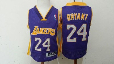Best Cheap Toddler Los Angeles Lakers #24 Kobe Bryant Purple Stitched Gear ZDZ2042