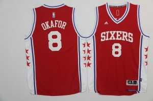 Best Gift Basketball Philadelphia 76ers 8 Jahlil Okafor Revolution 30 Swingman Red NHY3254