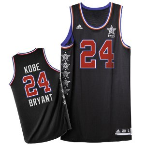 Breathable 2015 Clothing All Star NYC Western Conference #24 Kobe Bryant Black HZR170