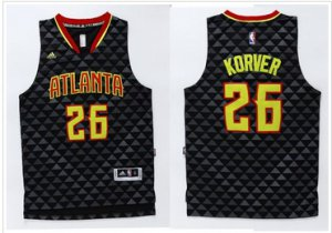 Buy Cheap Atlanta Hawks Jersey #26 Kyle Korver Black Swingman Stitched POA368