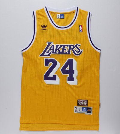 Cheap Los Angeles Lakers 24 Kobe Apparel Bryant Yellow NGR2427